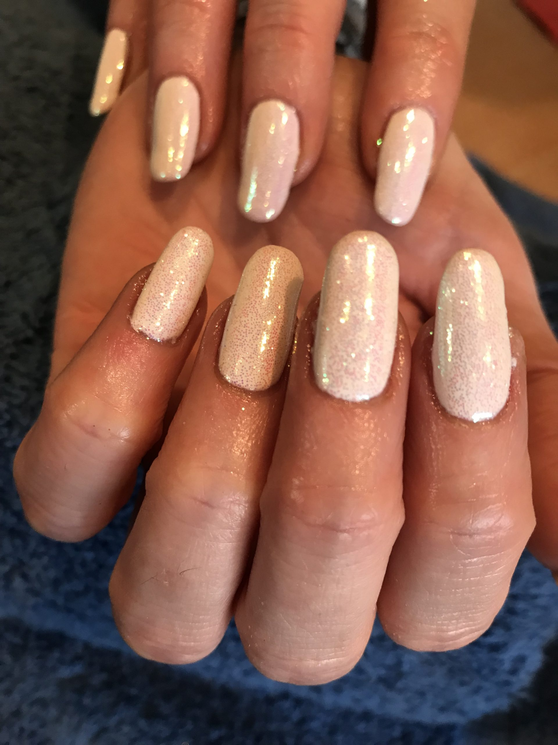 Shellac with full glitter cover