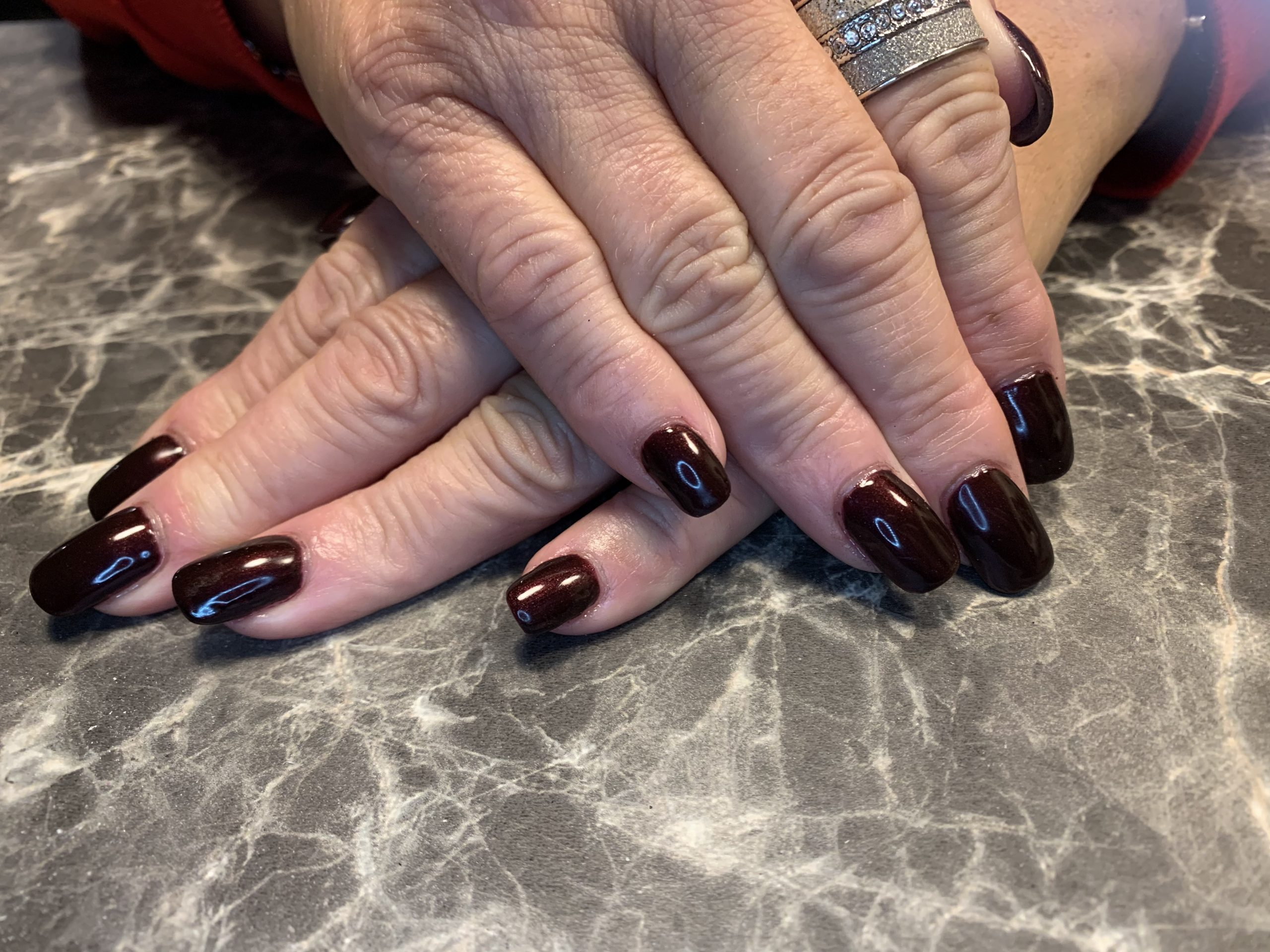 CND acrylics with Shellac