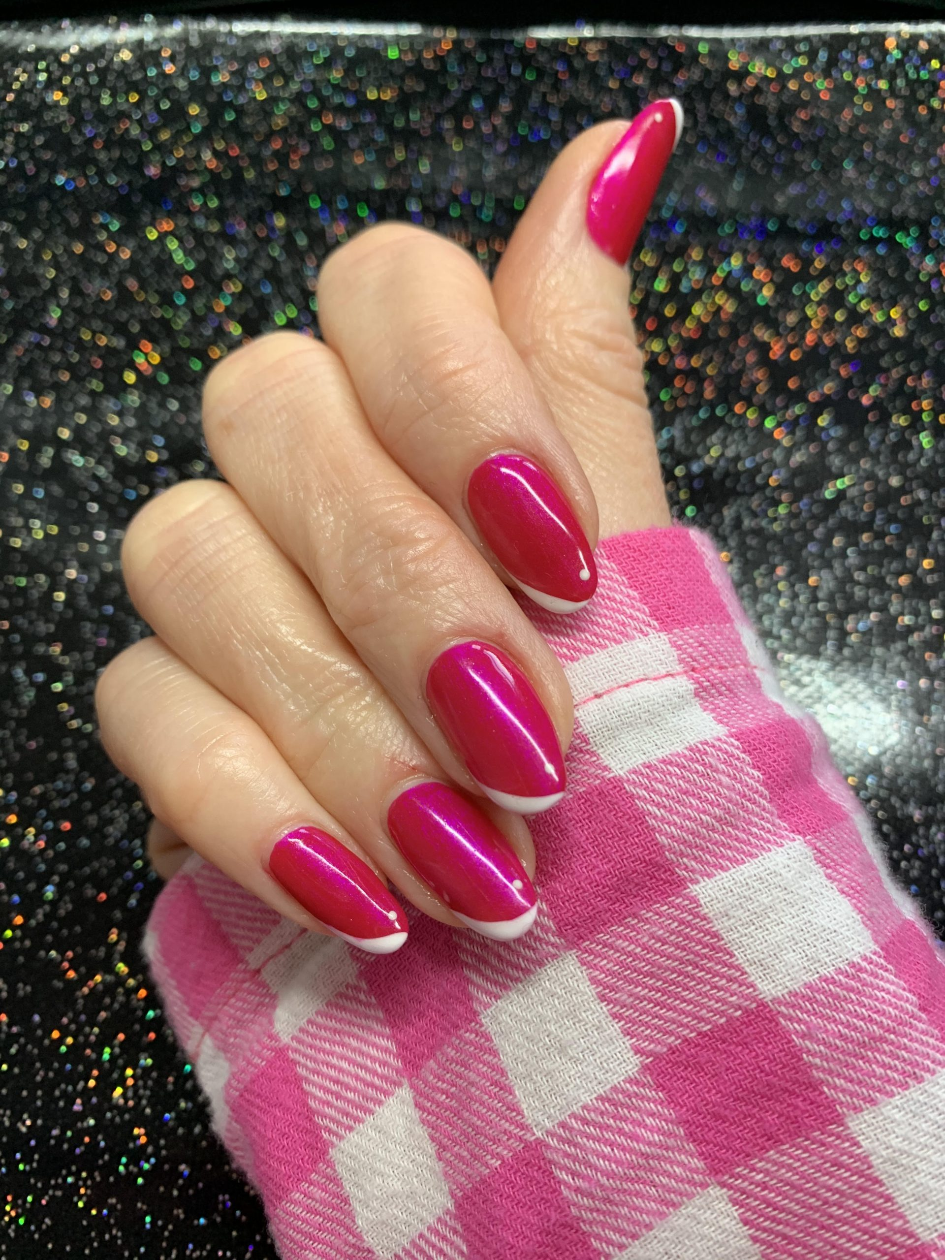 pink nails, alternative tips, CND Shellac, nail art, nail pro, nail artist, nail technician, gel nails, shellac nails, acrylic nails, ware, mobile