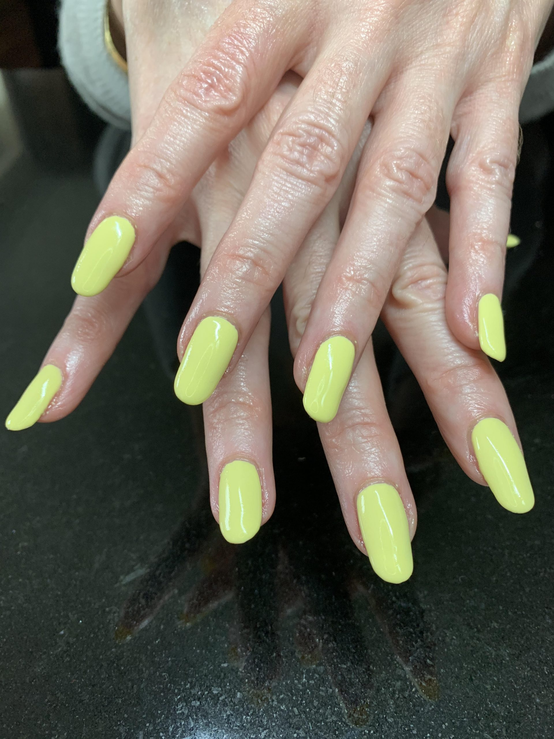 CND Shellac, yellow nails, nail art, nail pro, nail artist, nail technician, gel nails, shellac nails, acrylic nails, ware, mobile